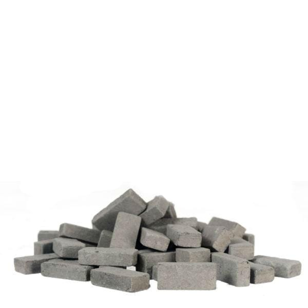 dollhouse miniature grey bricks