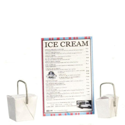 Dollhouse Miniature Ice Cream Takeout Set - Little Shop of Miniatures