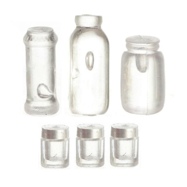 dollhouse miniature jars