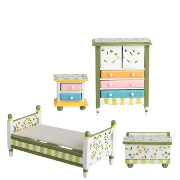 dollhouse miniature kids bedroom set