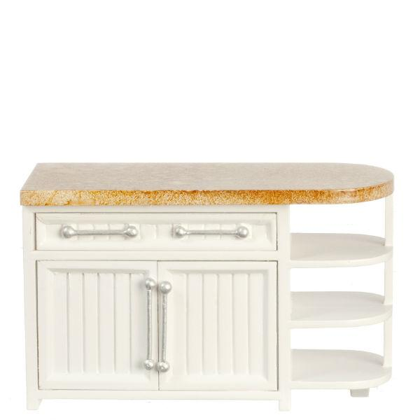 Faux Marble Dollhouse Miniature Kitchen Island Little Shop Of