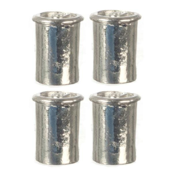 dollhouse miniature metal cans