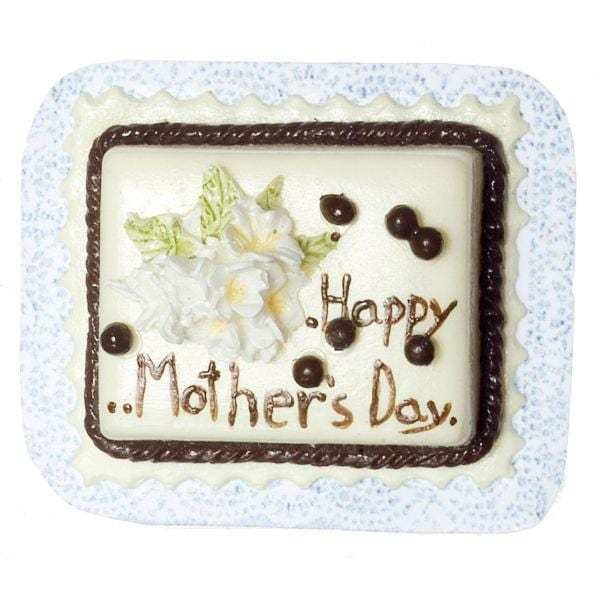 dollhouse miniature mother's day cake
