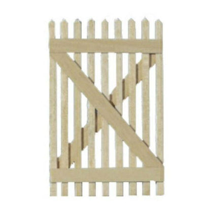 Dollhouse miniature picket fence gate.