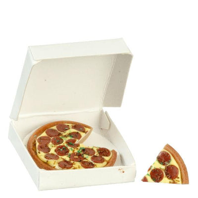 Dollhouse Miniature Pepperoni Pizza in a Box - Little Shop of Miniatures