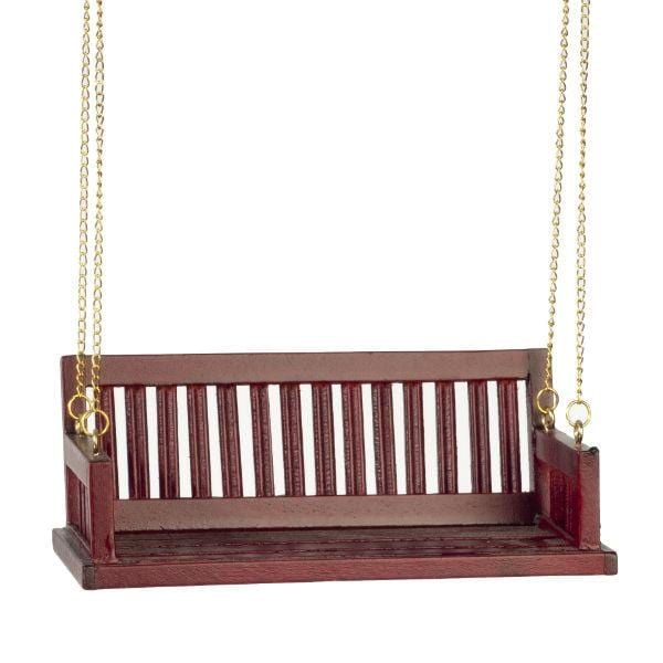 dollhouse miniature porch swing