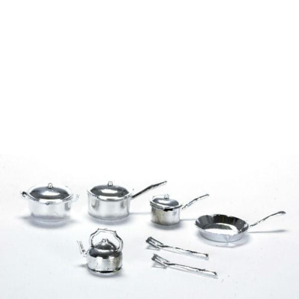 dollhouse miniature pot and pan set
