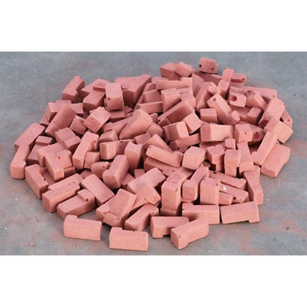 dollhouse miniature red corner bricks
