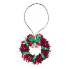 dollhouse miniature red wreath