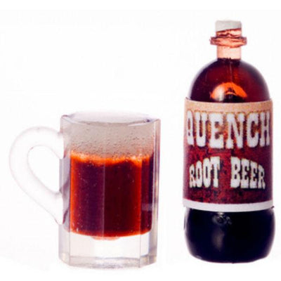 Dollhouse Miniature Root Beer with Mug - Little Shop of Miniatures