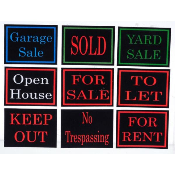 dollhouse miniature yard signs