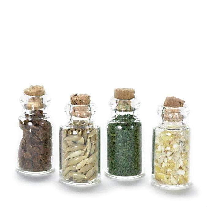 dollhouse miniature spice jars