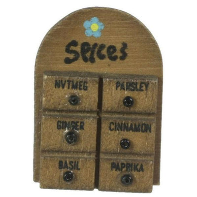 dollhouse miniature spice rack