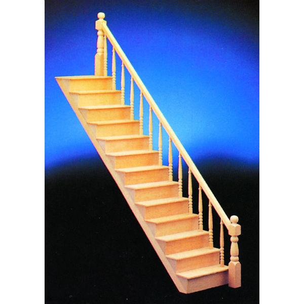 Assembled dollhouse miniature staircase.