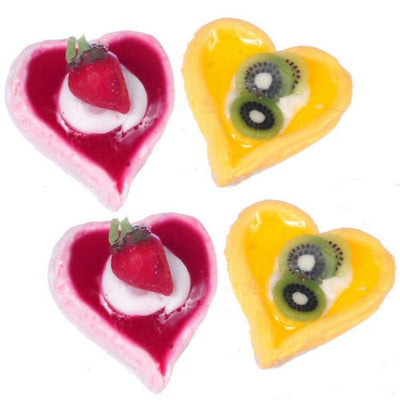 Dollhouse Miniature Heart Tarts - Little Shop of Miniatures