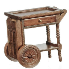 dollhouse miniature tea cart