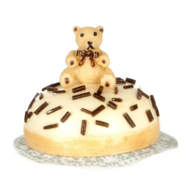 dollhouse miniature teddy bear cake