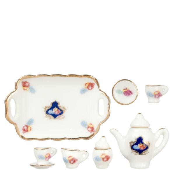 dollhouse miniature ten piece tea set