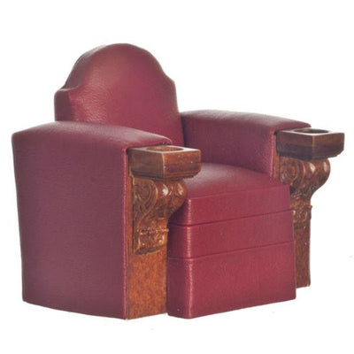 Walnut Dollhouse Miniature Theater Chair - Little Shop of Miniatures