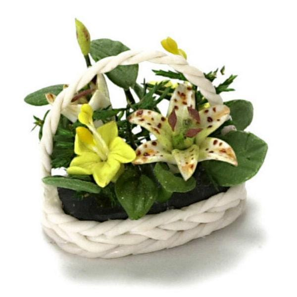 dollhouse miniature tiger lily floral arrangement