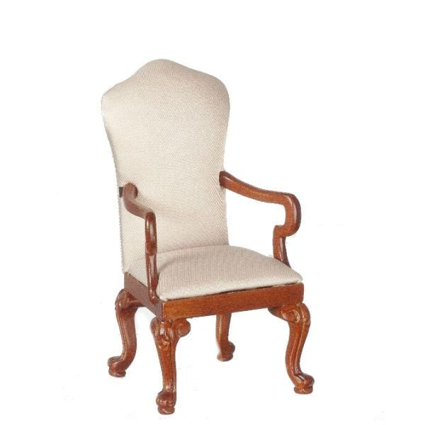 dollhouse miniature upholstered armchair