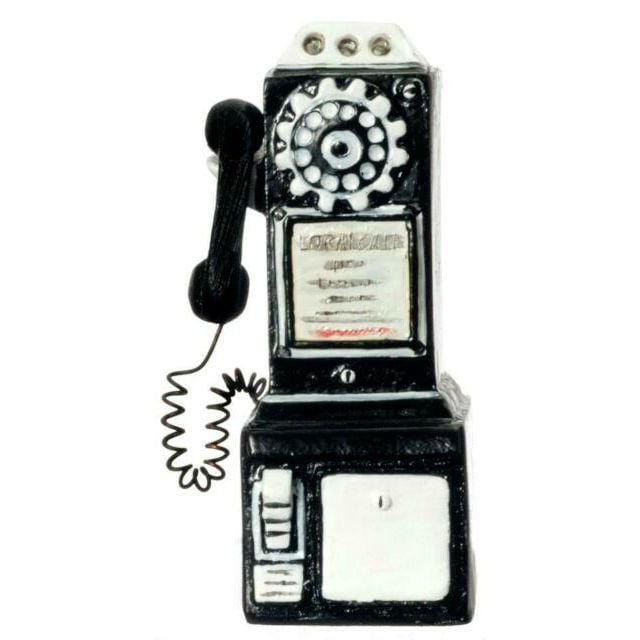 dollhouse miniature pay phone