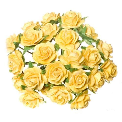 dollhouse miniature yellow roses