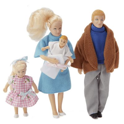 Miller Family Dollhouse Dolls - Little Shop of Miniatures