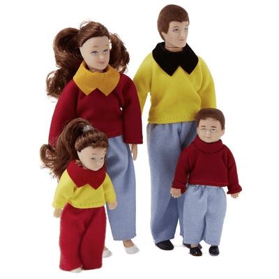 Clemente Dollhouse Doll Family - Little Shop of Miniatures