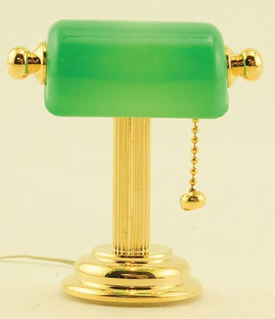 Dollhouse Miniature Banker's Lamp