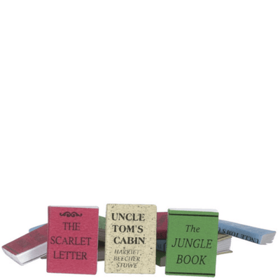 12 Dollhouse Miniature Books - Little Shop of Miniatures