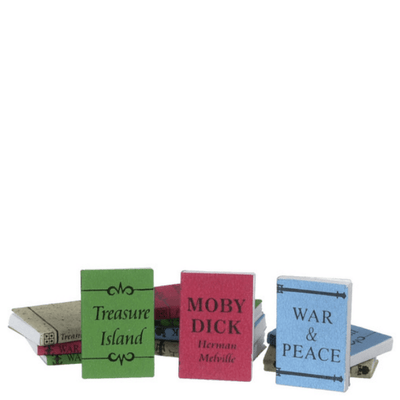 12 Large Dollhouse Miniature Books - Little Shop of Miniatures