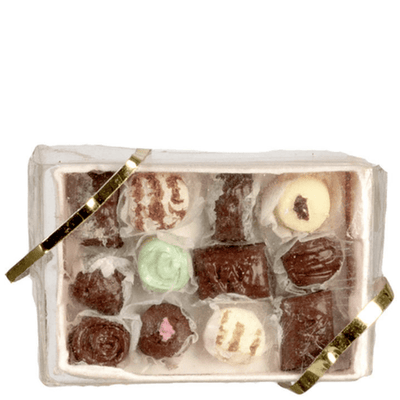 Dollhouse Miniature Box of Chocolates - Little Shop of Miniatures