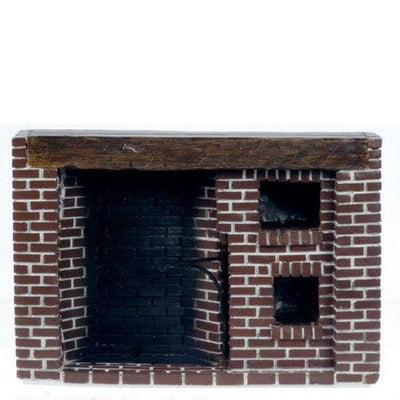 dollhouse miniature brick fireplace