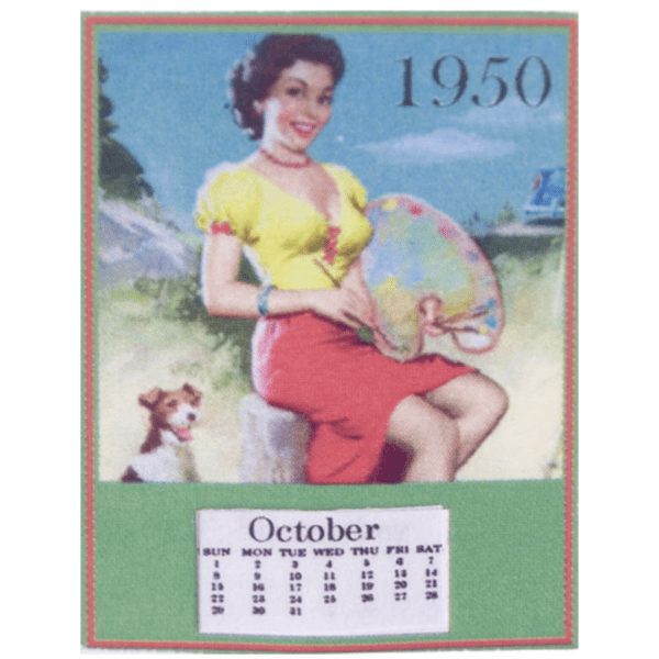 dollhouse miniature calendar