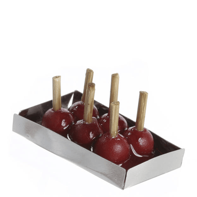 Dollhouse Miniature Candy Apples on a Tray - Little Shop of Miniatures
