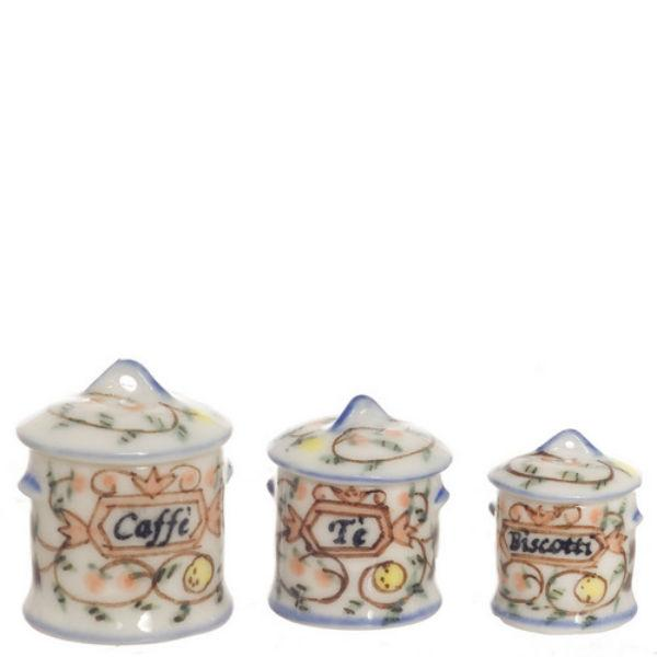 dollhouse miniature canisters