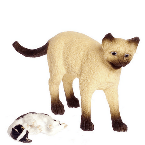 dollhouse miniature cats