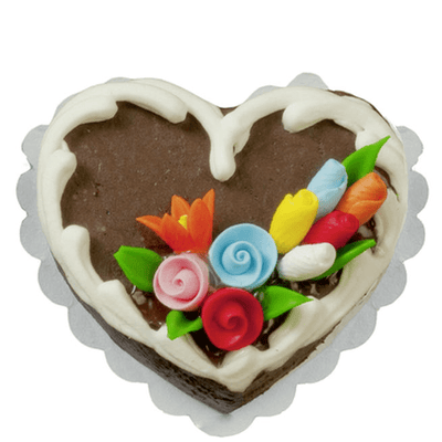 Dollhouse Miniature Chocolate Heart Cake - Little Shop of Miniatures