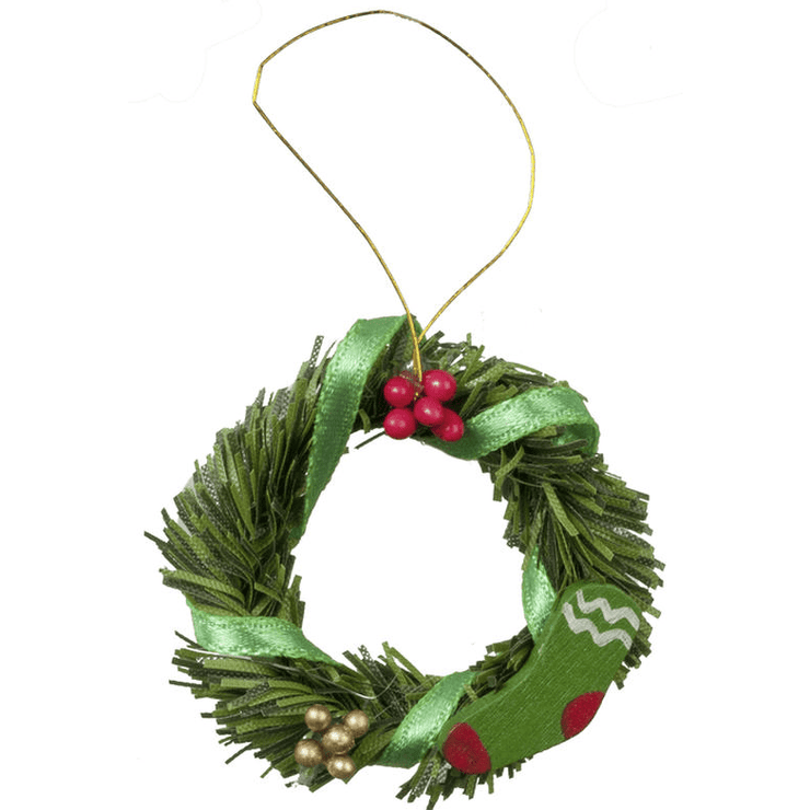 dollhouse miniature christmas wreath