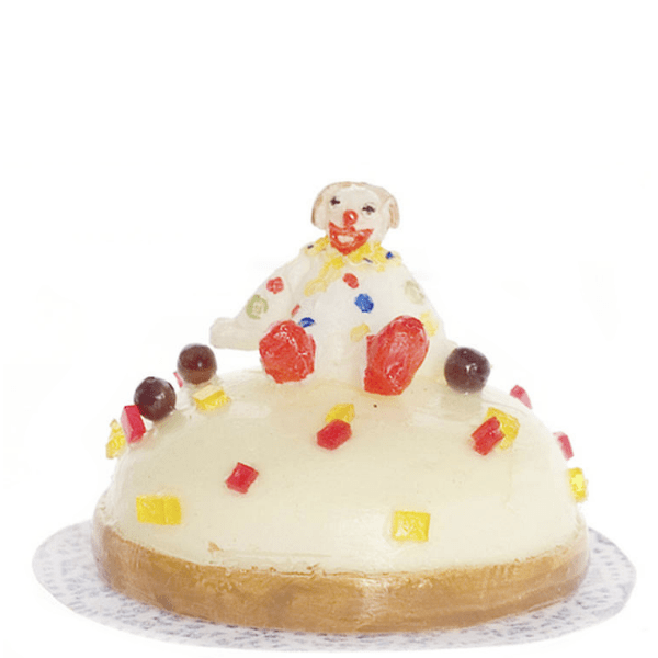 dollhouse miniature clown cake