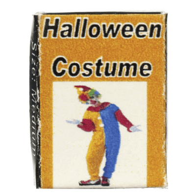 dollhouse miniature clown costume box