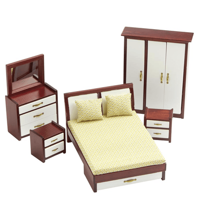 dollhouse miniature contemporary bedroom set