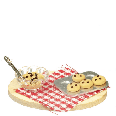 dollhouse miniature cookie making set