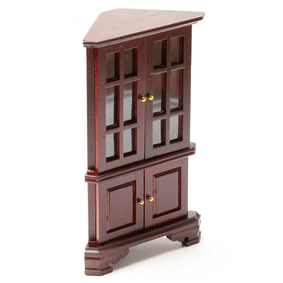 dollhouse miniature corner hutch