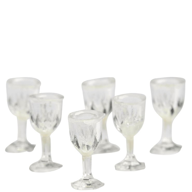 dollhouse miniature cut glasses
