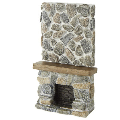 Dollhouse Miniature Ceiling Stone Fireplace - Little Shop of Miniatures