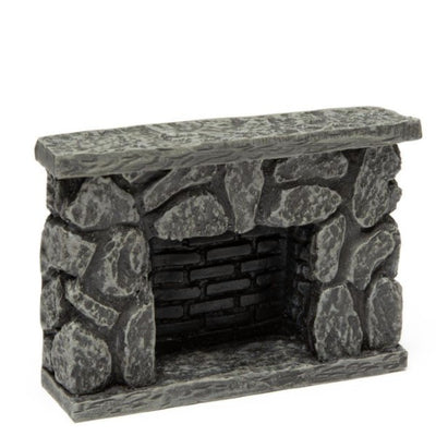 Dollhouse Miniature Fieldstone Fireplace - Little Shop of Miniatures