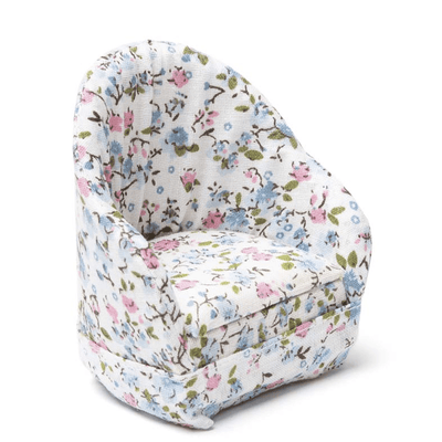 dollhouse miniature floral armchair