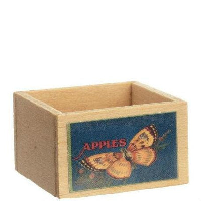Dollhouse Miniature Fruit Crate with Butterfly Decal